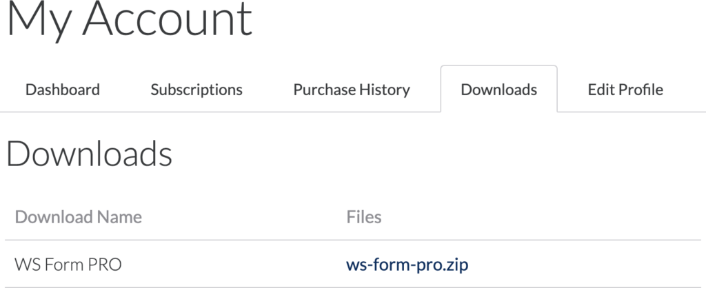 WS Form PRO - Download Software