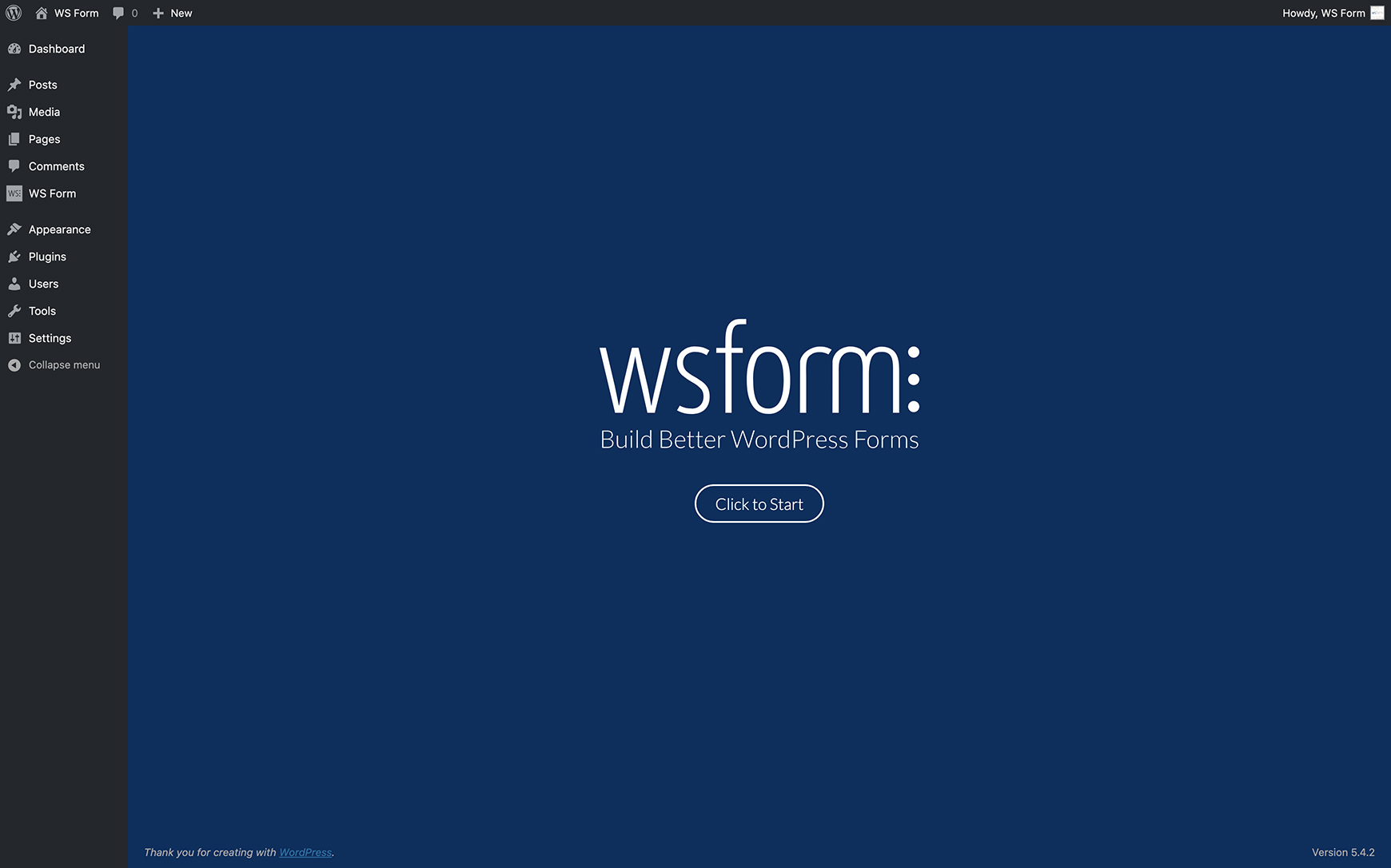 WS Form PRO - Welcome Screen