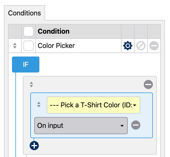 Customizable T-Shirt Product Tutorial - Color Picker Conditional Logic