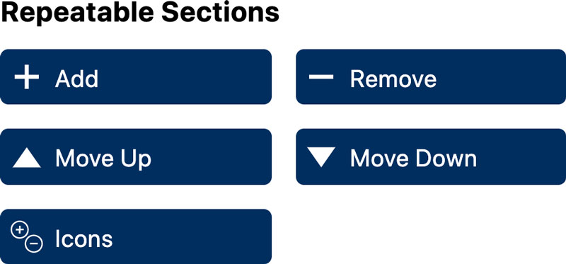 WS Form Repeatable Section Fields