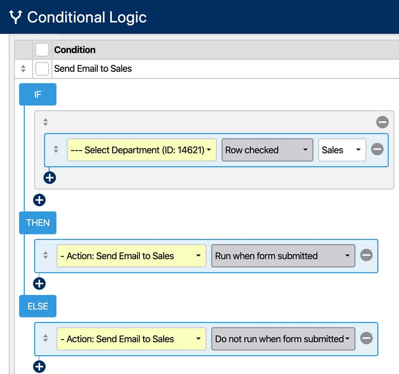 Create a Form Recipient Selector - Conditional Logic