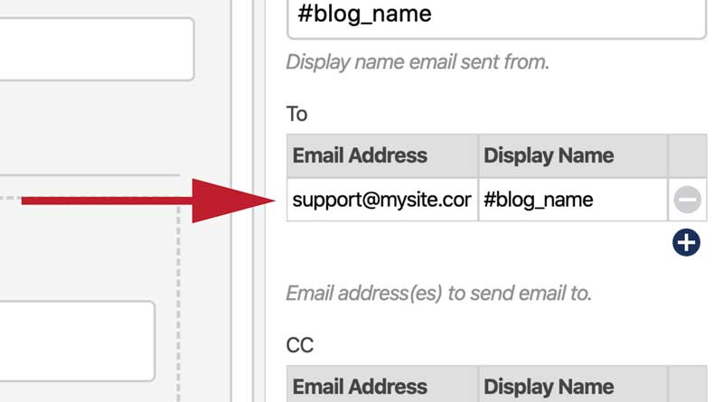 Create a Form Recipient Selector - Send Email To