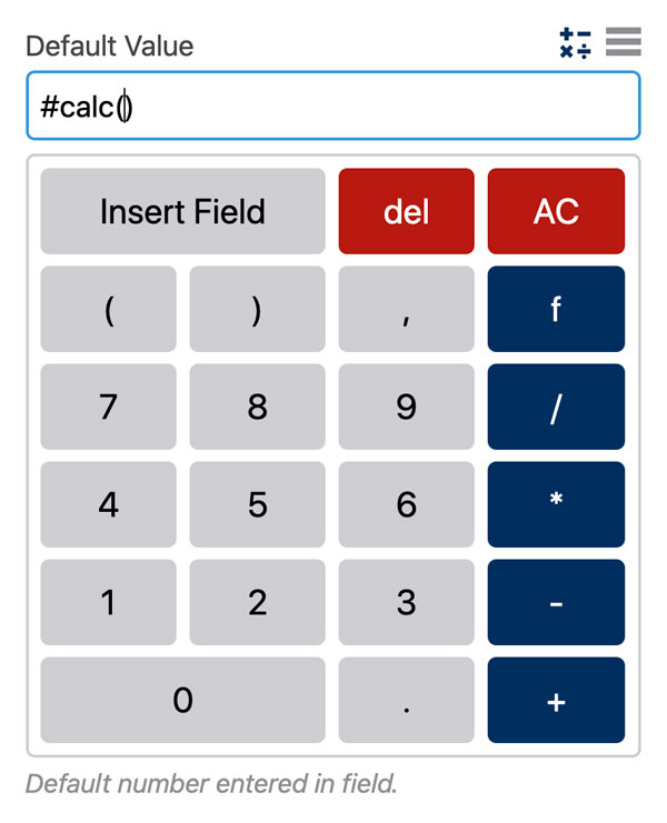 WS Form PRO - Calculated Fields - Calculator