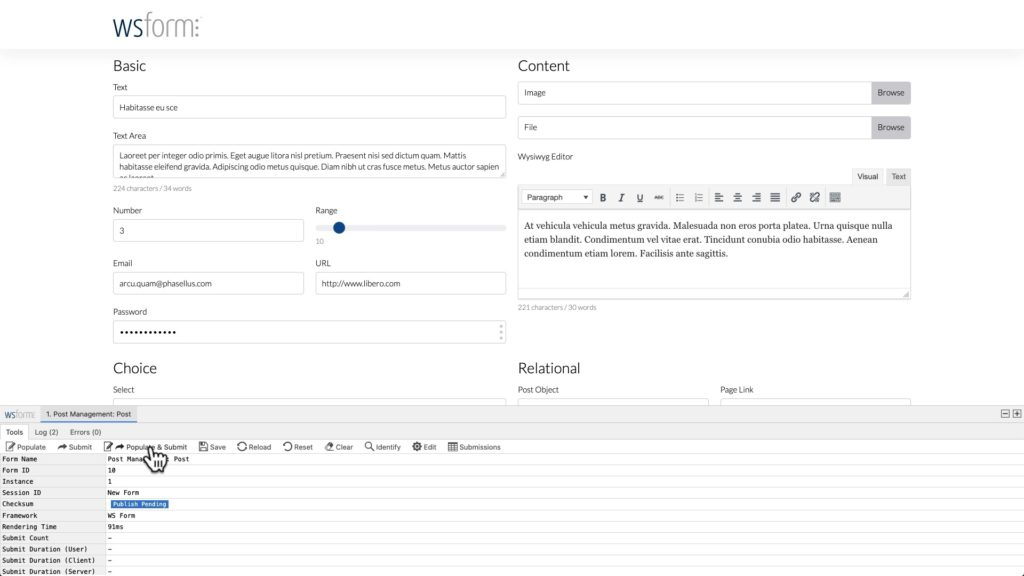WS Form ACF Tutorial - Preview and Populate via the Debug Console